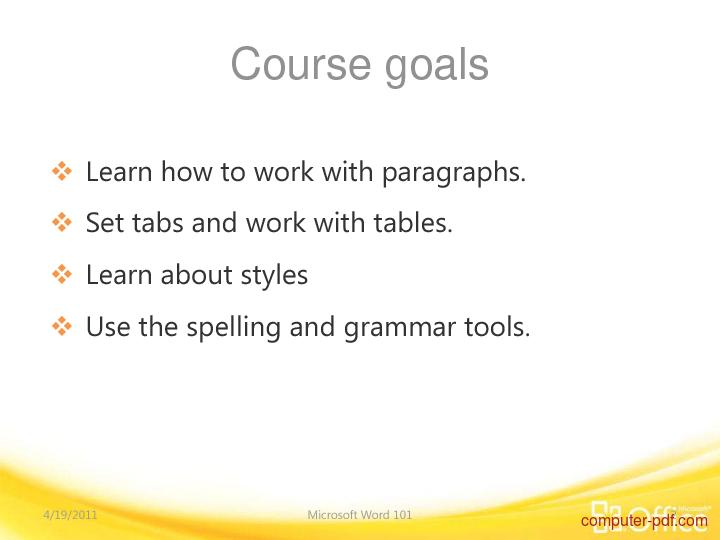 Tutorial Word 2010 Training 2