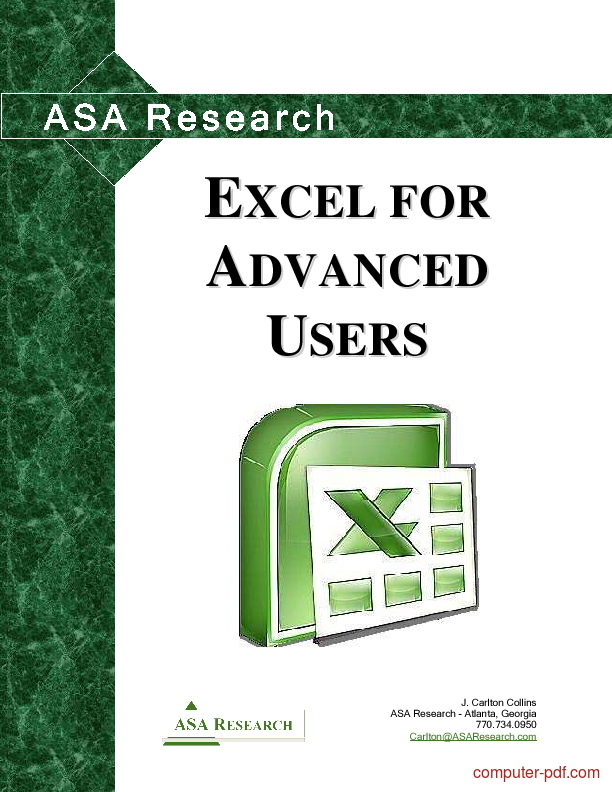 PDF] Excel for users free tutorial for Advanced
