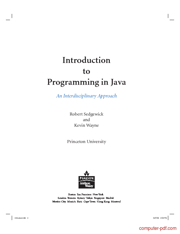 PDF] Introduction to Programming in Java free tutorial for