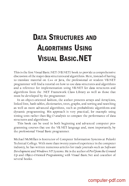 PDF] Data structures and algorithms using VB NET free
