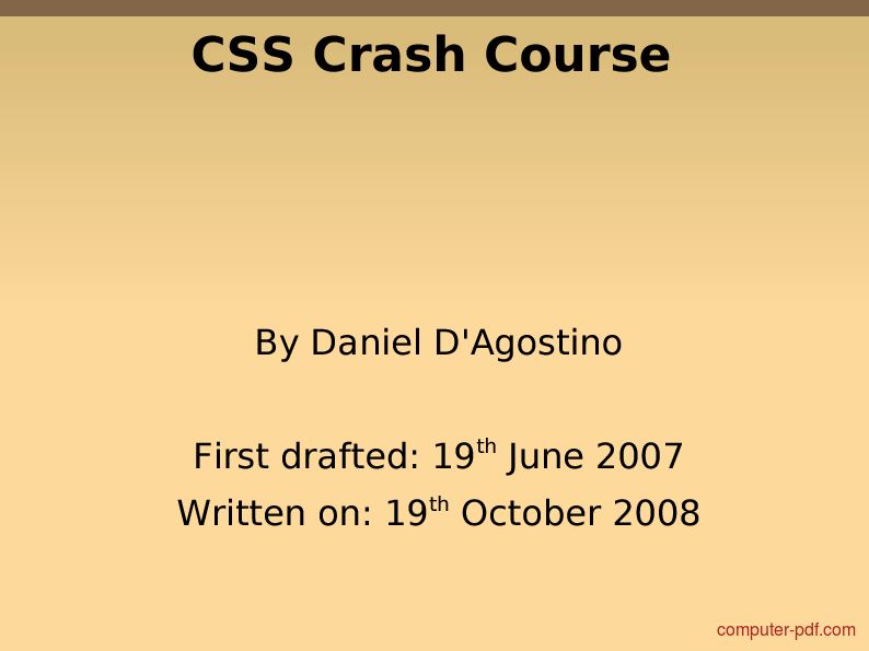 PDF] CSS Crash Course free tutorial for Beginners