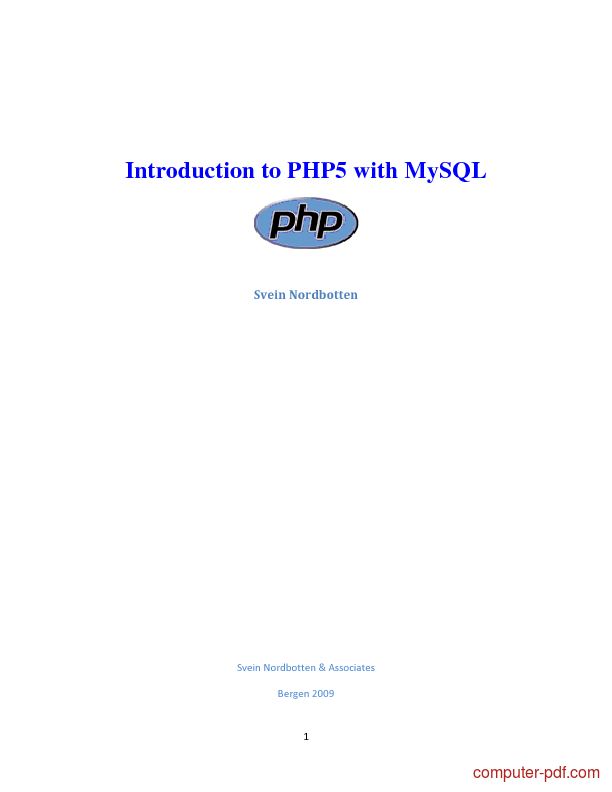 PDF] Introduction to PHP5 with MySQL free tutorial for Beginners