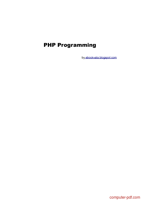 Tutorial PHP Programming 1
