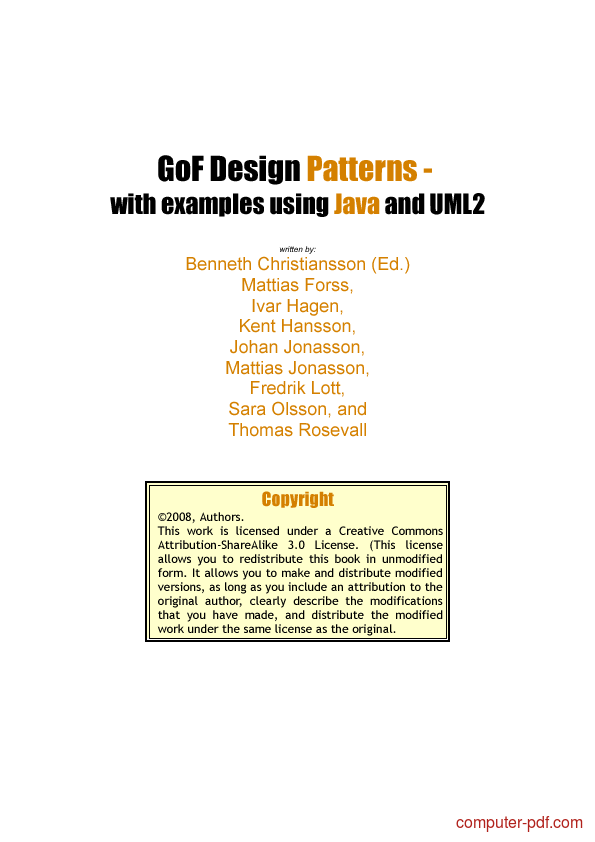 Design Patterns In Java Pdf With Examples