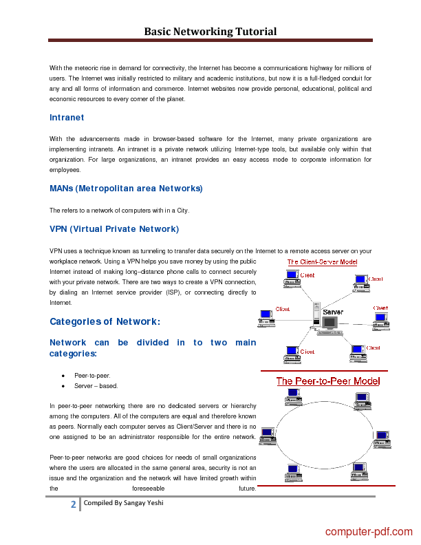 Pdf Basic Networking Free Tutorial For Beginners