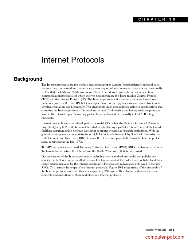 Tutorial Internet Protocols