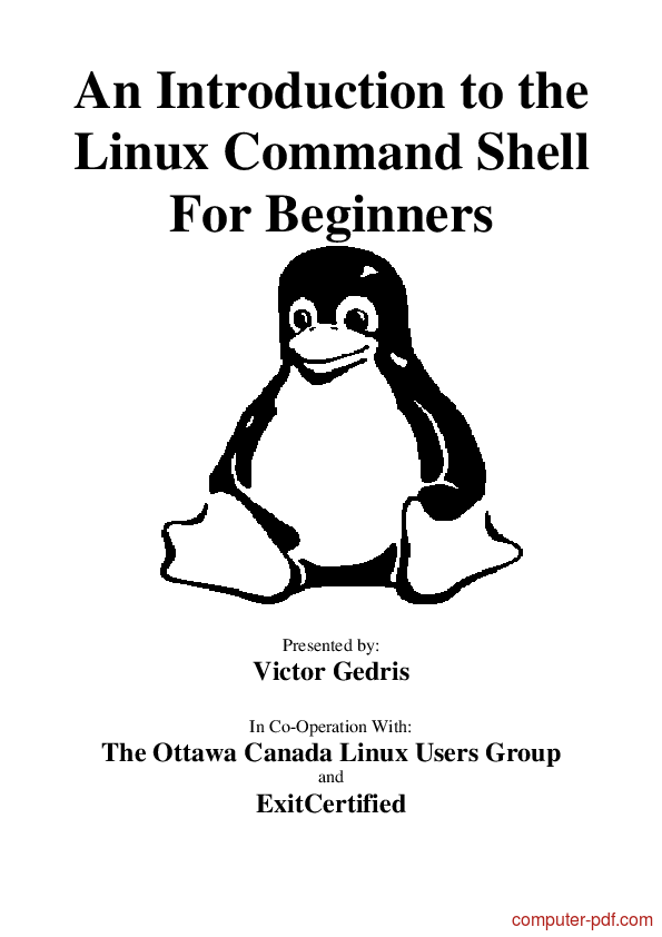 Tutorial An Introduction to the Linux Command Shell 1
