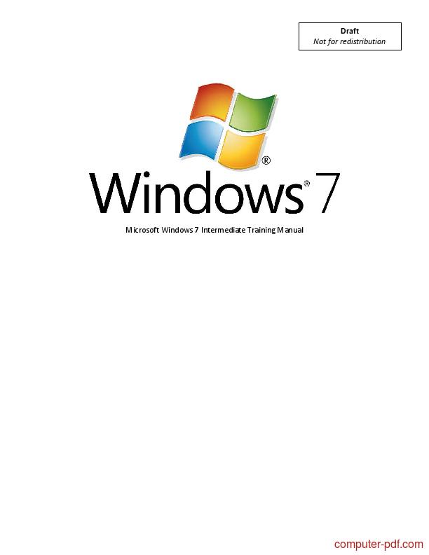 pdf microsoft windows 7 free tutorial for beginners