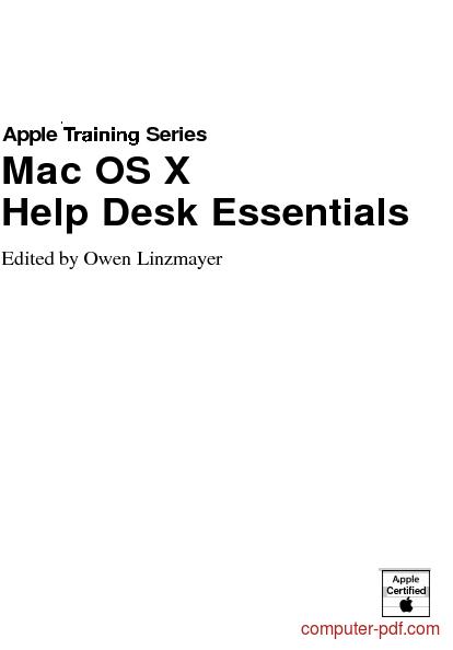 course Mac OS X Help Desk Essentials