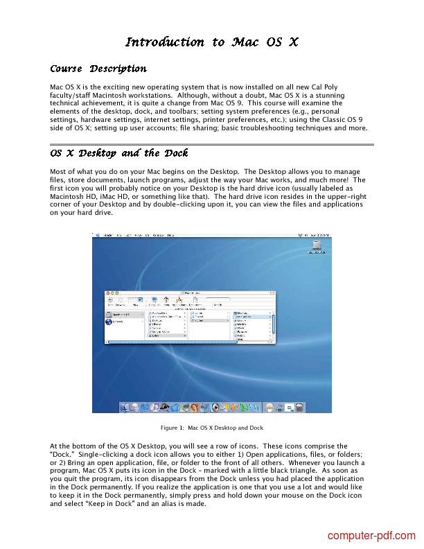 Tutorial Introduction to Mac OS X 1