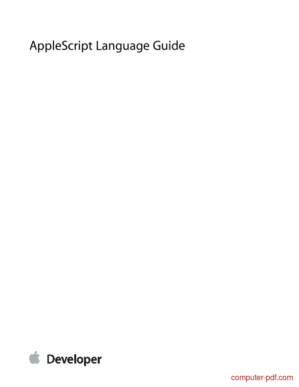 Tutorial AppleScript Language Guide