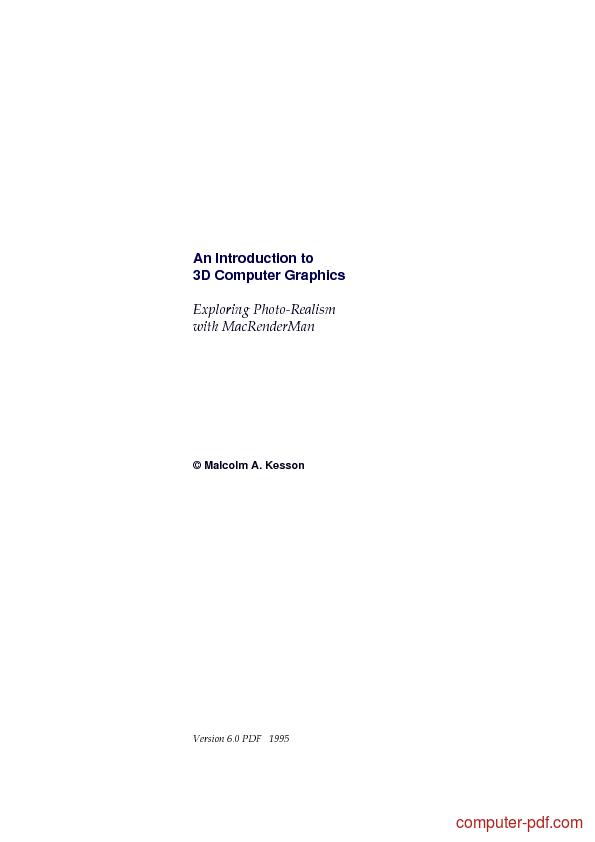 3d computer graphics pdf