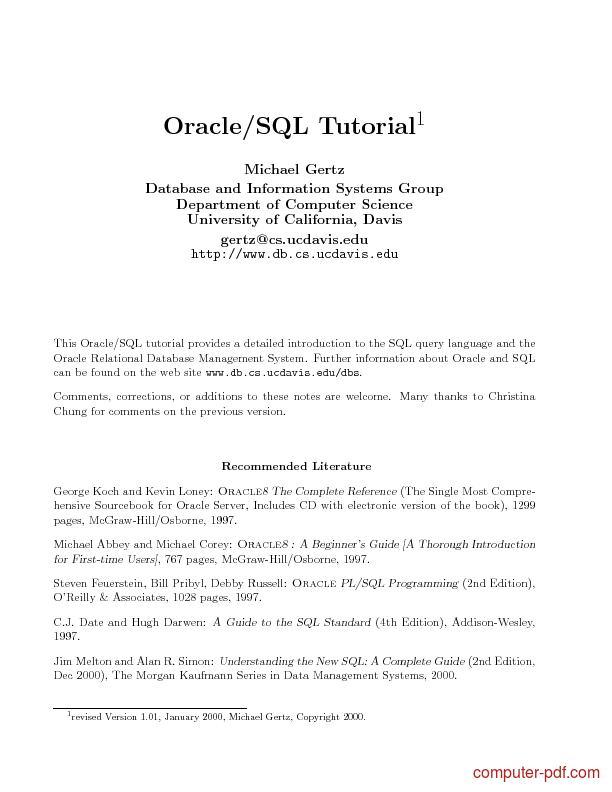 Language sql access cours pdf