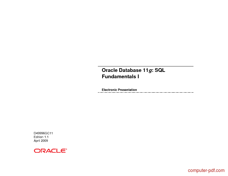 Oracle Database Pdf