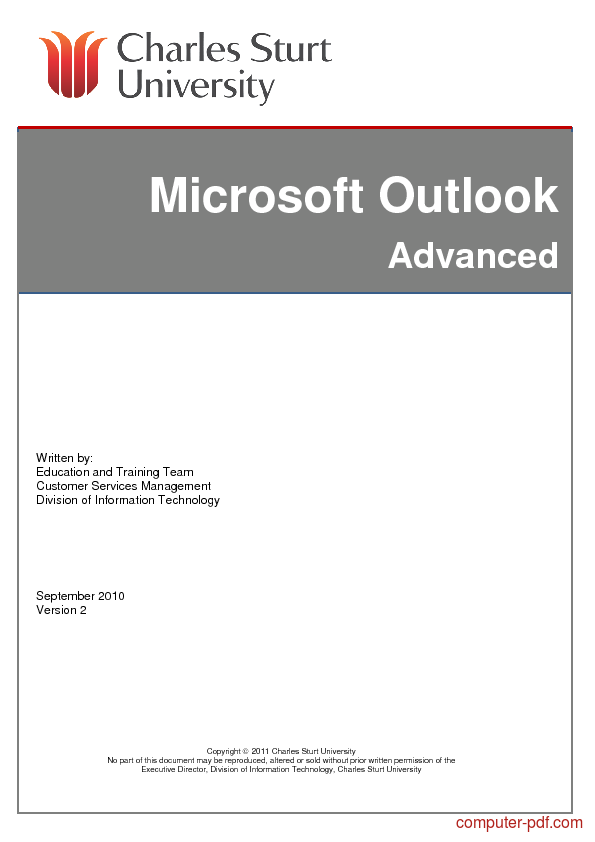 Microsoft Outlook Programming Ebook