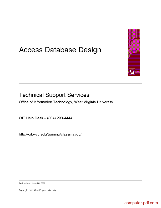 Tutorial Access Database Design 1