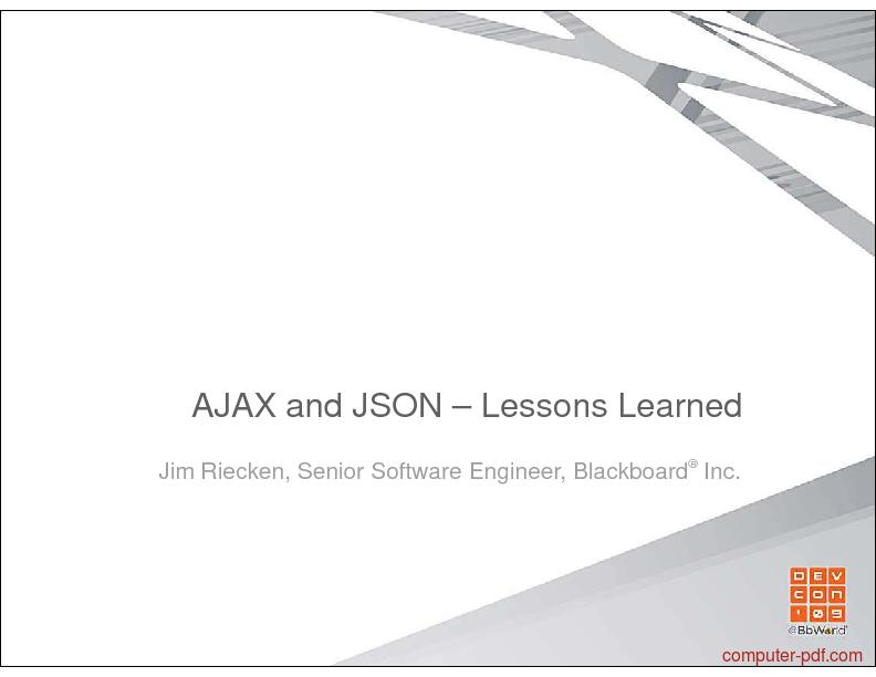 PDF] AJAX and JSON free tutorial for Intermediate