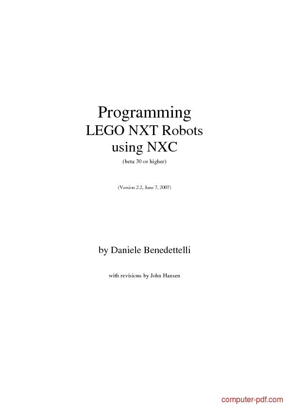 Nxt Lego Programming