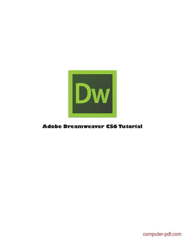 Tutorial Adobe Dreamweaver CS6 Tutorial
