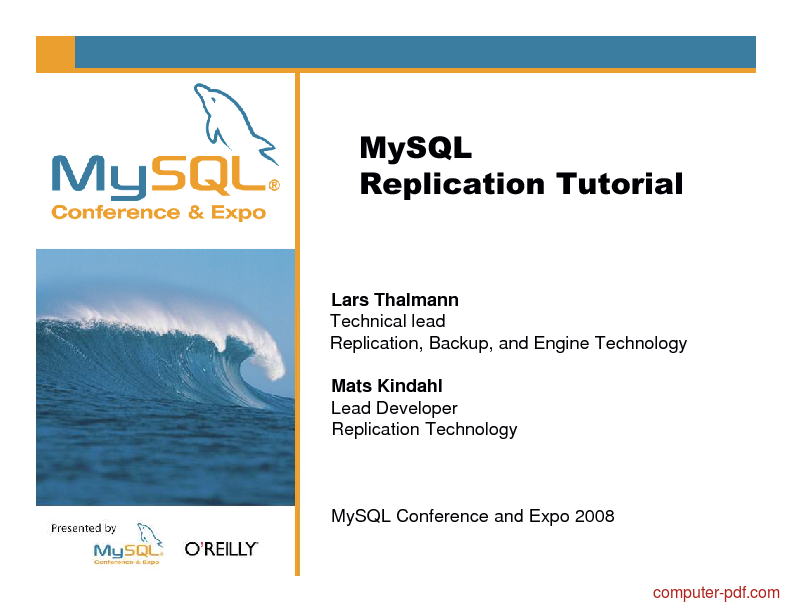 Tutorial MySQL Replication Tutorial 1
