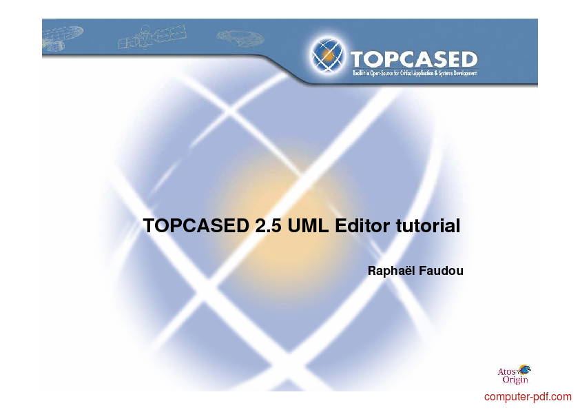 Tutorial Topcased 2.5 UML Editor tutorial 1