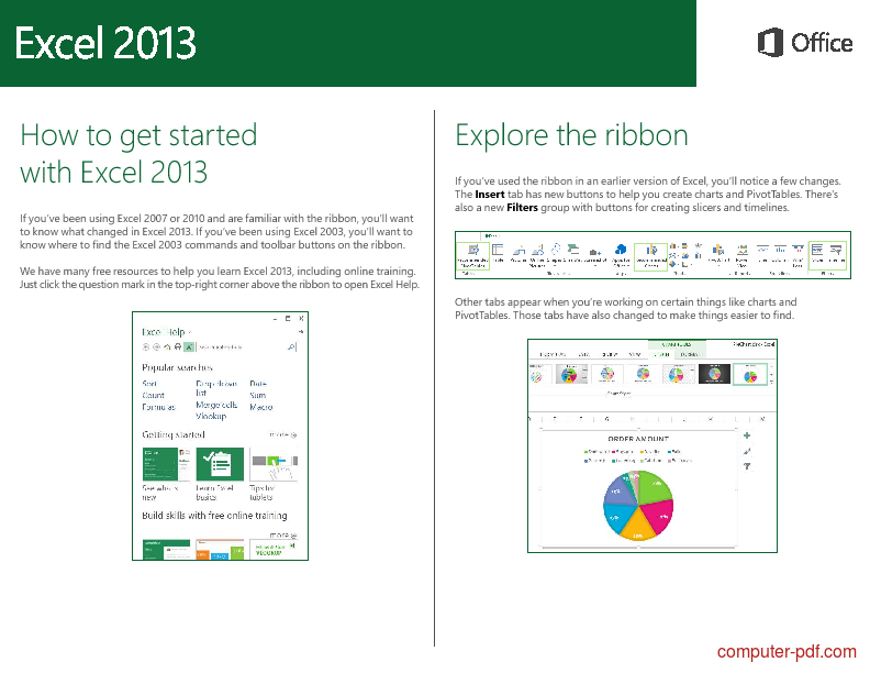 Tutorial Excel 2013 Quick Start 2