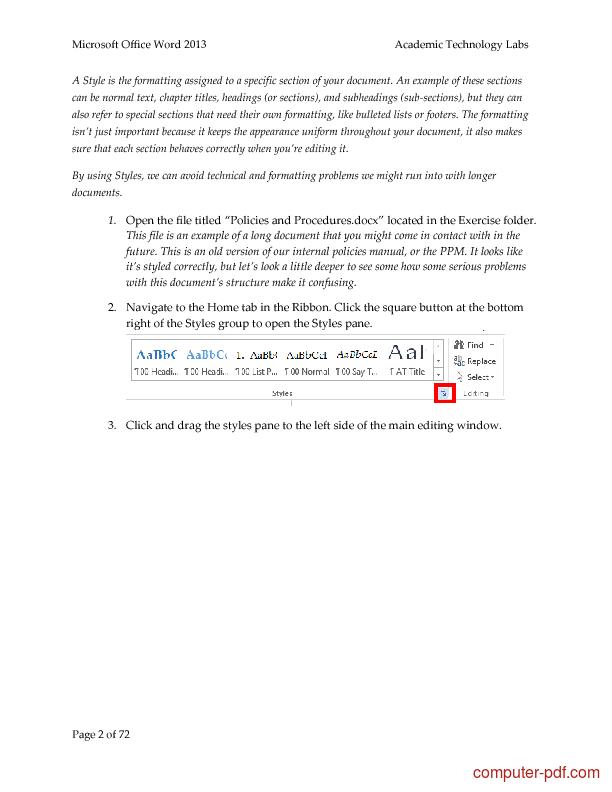 pdf word 2013 free tutorial for advanced