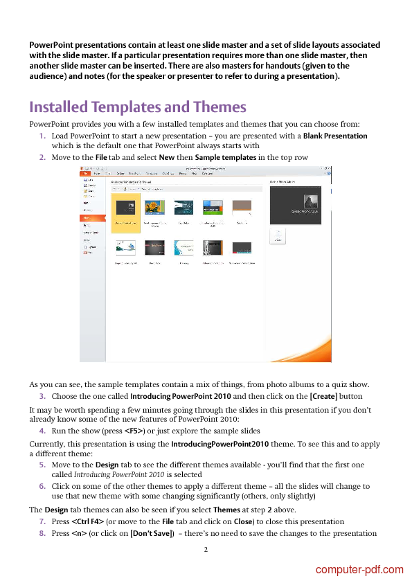 pdf  powerpoint 2010 templates and slide masters free