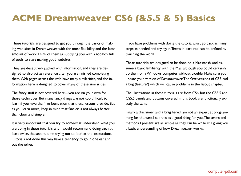 Tutorial Dreamweaver CS6 Basics 2