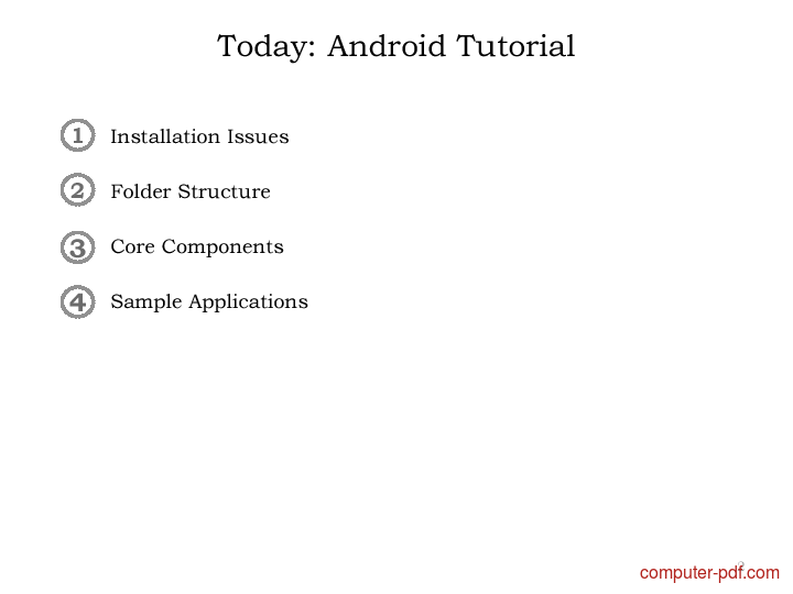 course Android Development Tutorial