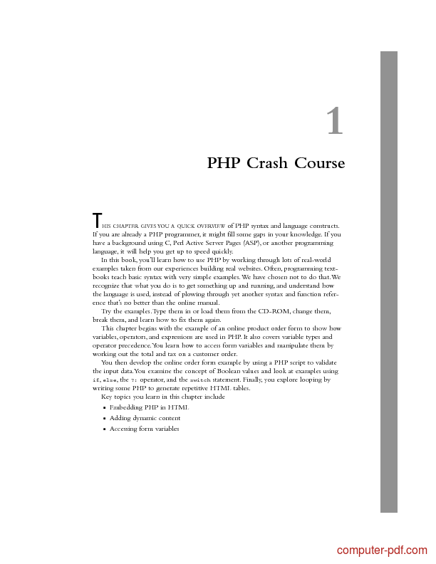Tutorial PHP Crash Course 1