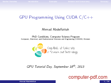 PDF] GPU Programming Using CUDA C/C++ free tutorial for Advanced