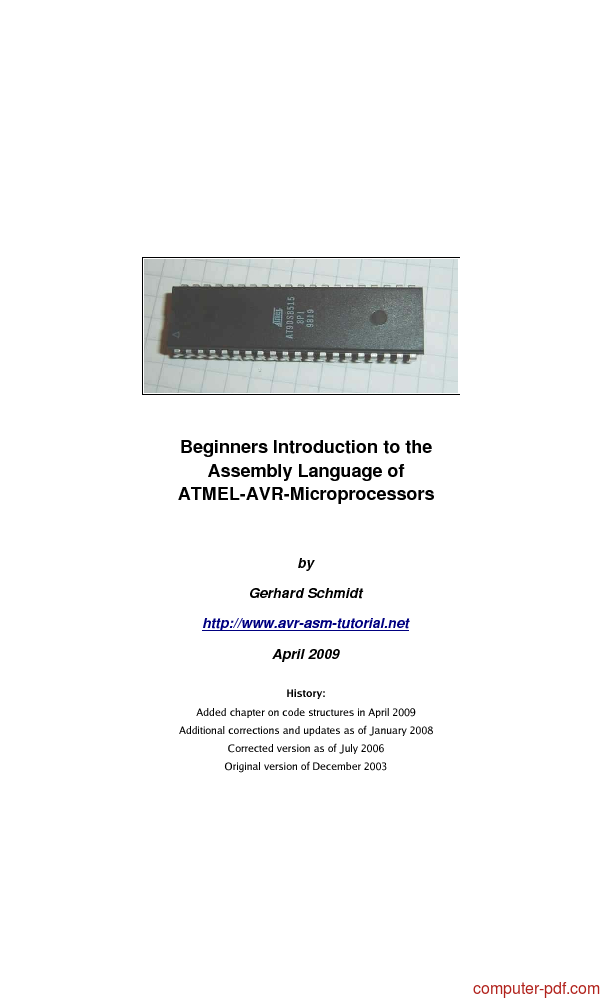 Tutorial Introduction to the AVR Assembly Language 1