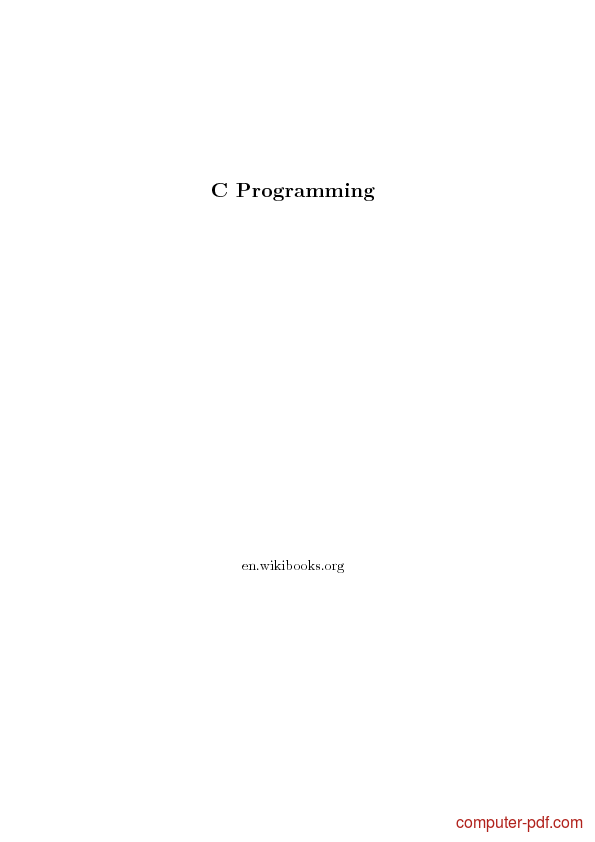 C Programming Books For Beginners Pdf