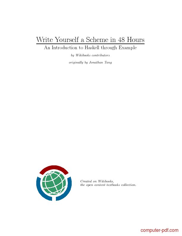 Tutorial Write Yourself a Scheme in 48 Hours 1