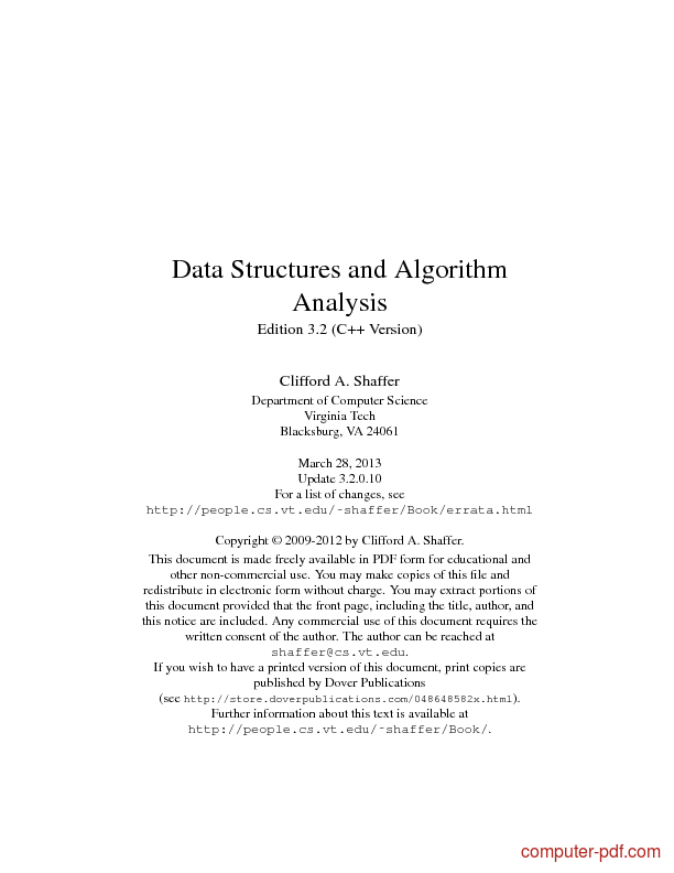 Tutorial Data Structures and Algorithm Analysis (C++) 1