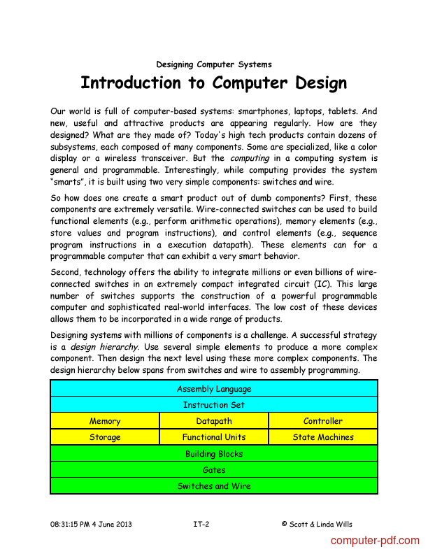 Tutorial Introduction to Computer Design 2