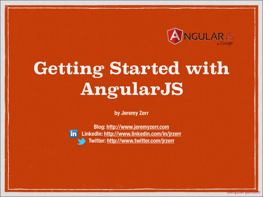 pdf] getting started with angularjs free tutorial for beginners