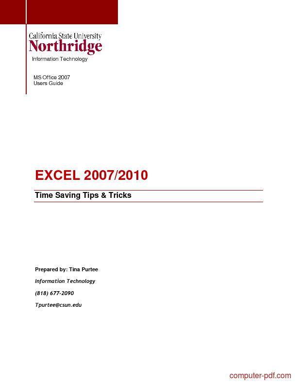 Excel Guide Pdf
