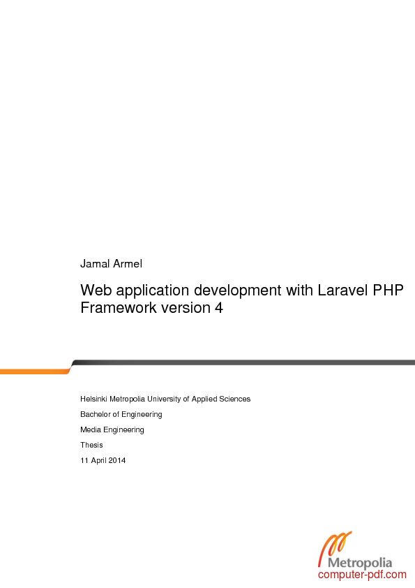 PDF] Web application development with Laravel PHP Framework free