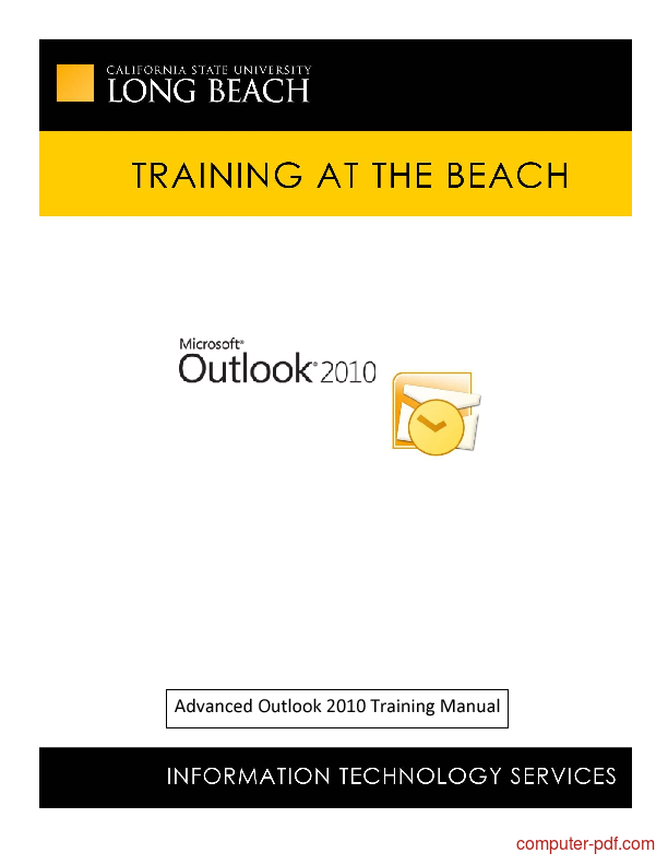 PDF] Outlook 2010 Training Manual free tutorial for Advanced