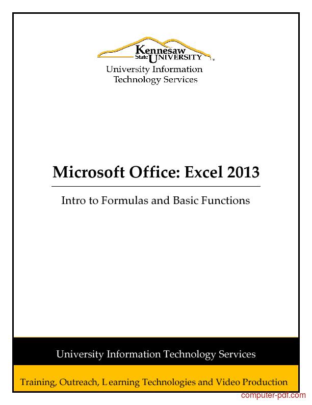 Pdf excel formulas ms office
