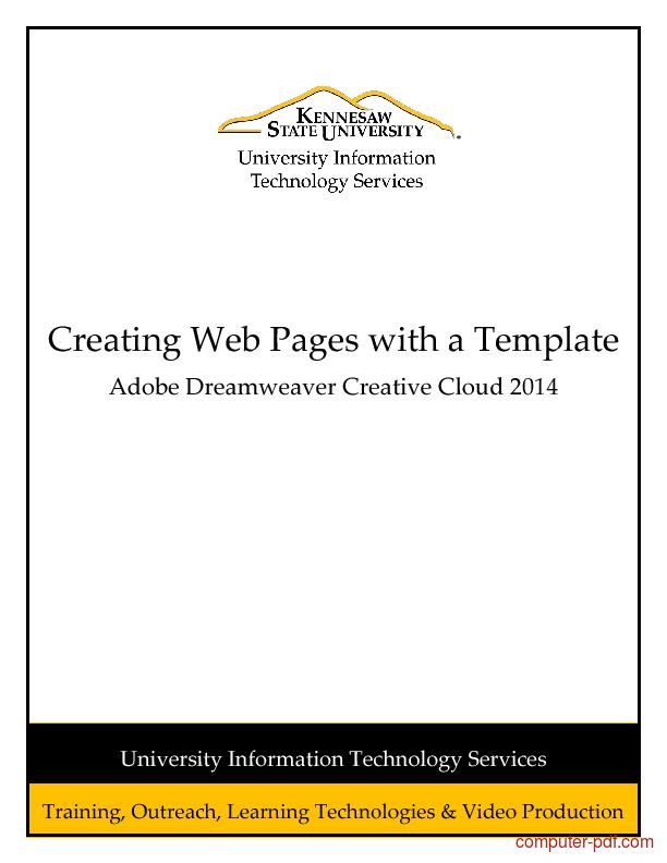Tutorial Adobe Dreamweaver CC 2014 (Creative Cloud) 1