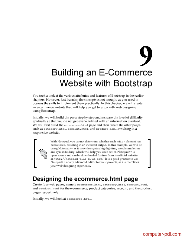 Pdf Building An Ecommerce Website With Bootstrap Free Tutorial For Beginners