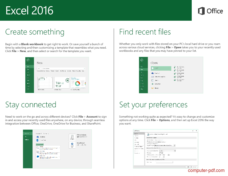 PDF] Microsoft Excel 2016 Quick Start Guide free tutorial