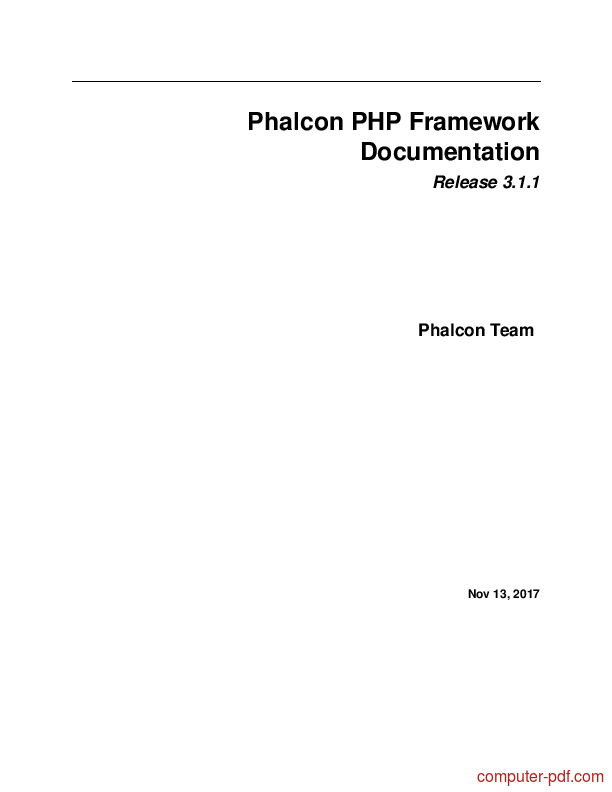 Learning Phalcon Php Ebook