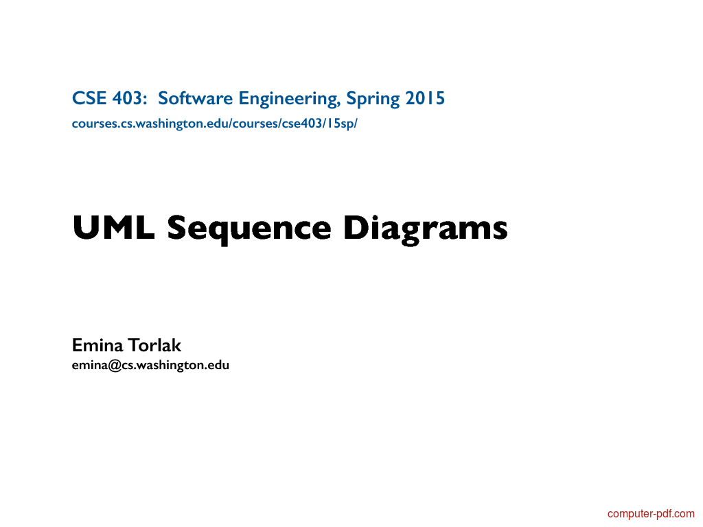 Tutorial UML Sequence Diagrams 1