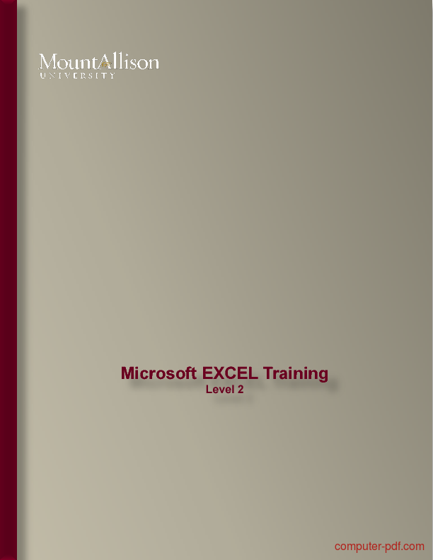 ms excel tutorial pdf free download