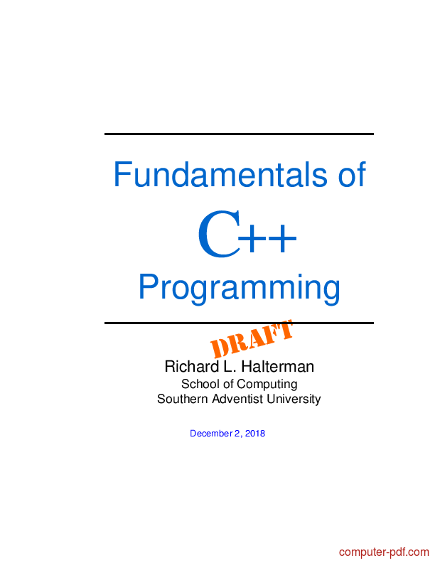 Pdf Fundamentals Of C Programming Free Tutorial For Beginners
