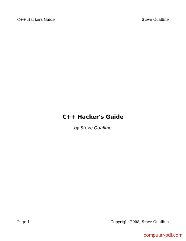 C   Hackers Guide